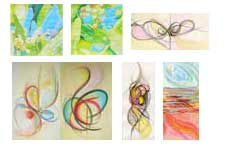 Abstract work, paintings and drawings